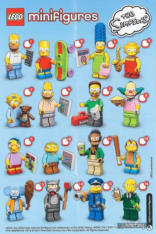 """Légo Simpsons"" série 1"