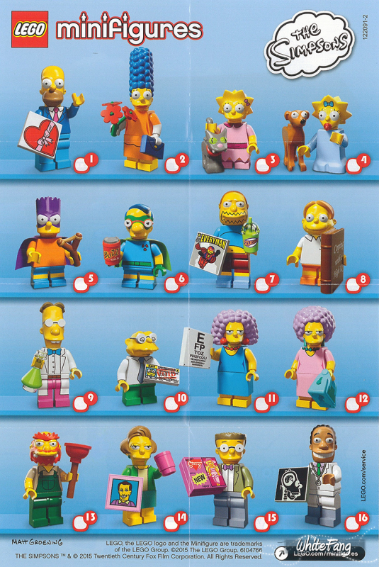 """Légo Simpsons"" série 2"