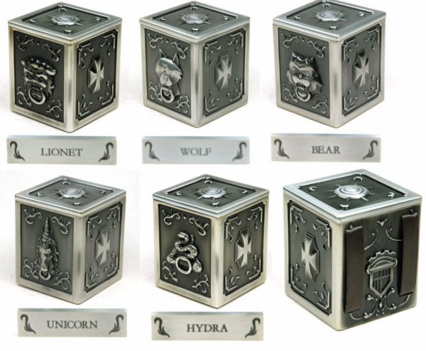 "Pandora Box ""Myth Cloth"" des 5 chevaliers de bronze secondaires"