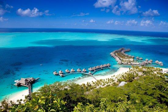 L'île de Bora-Bora en Polynésie française, Océan Pacifique