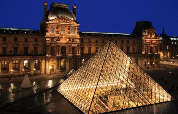 Inauguration de la Pyramide du Louvre