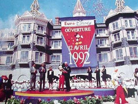 Ouverture d'Euro Disneyland Paris