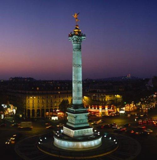 Pose de la première pierre de la Bastille