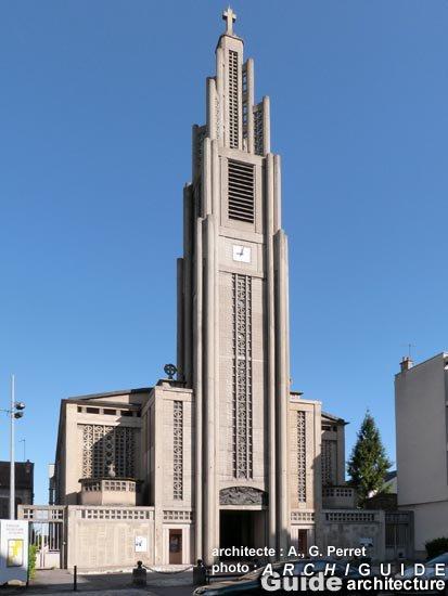 Première pierre de l'Eglise Notre-Dame du Raincy