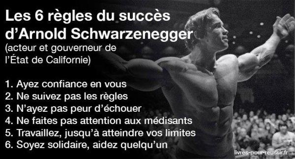 Les 6 règles de la réussite selon Schwarzenegger