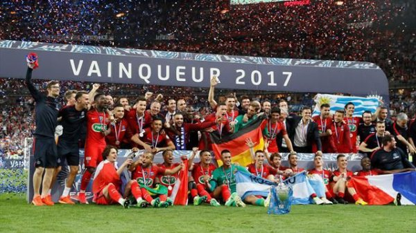 Le PSG remporte la Coupe de France 2017