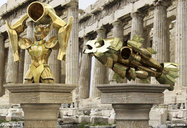 Répliques en 3D des 12 armures d'Or