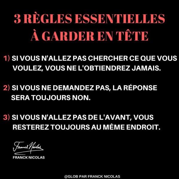 Les 3 règles pour évoluer ...