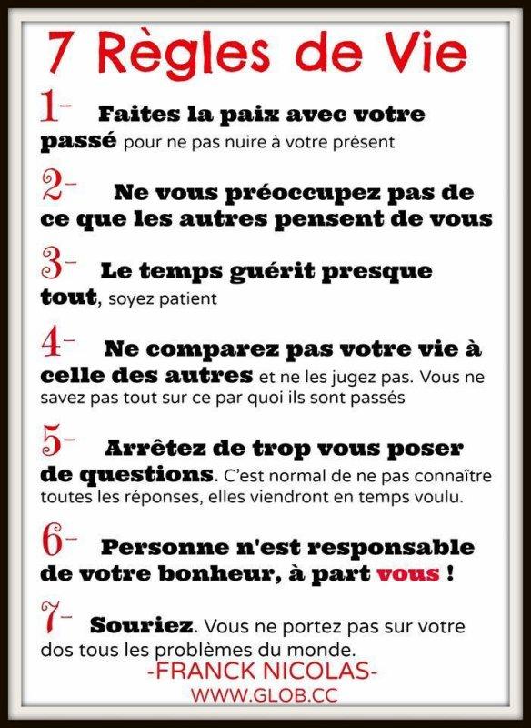 Les 7 règles du Bonheur ...