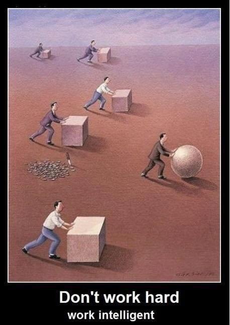 Ne travaillez pas durement mais intelligemment ...