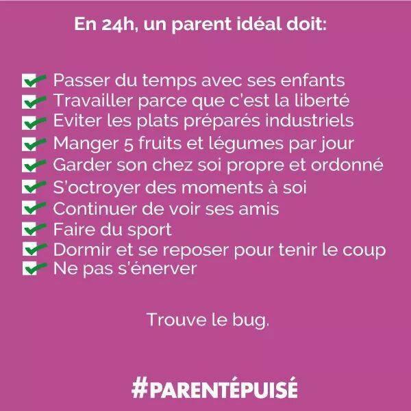 Les 24h du parent idéal ...