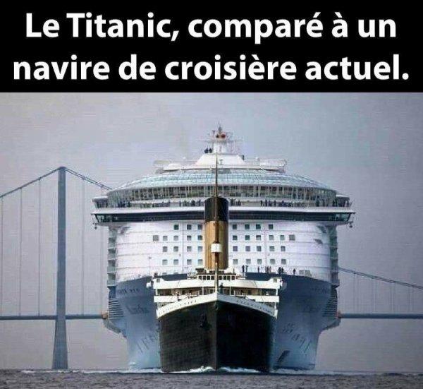 Le Titanic, comparé à un navire de croisière actuel ...