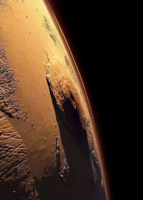Le Mont Olympe sur Mars ...