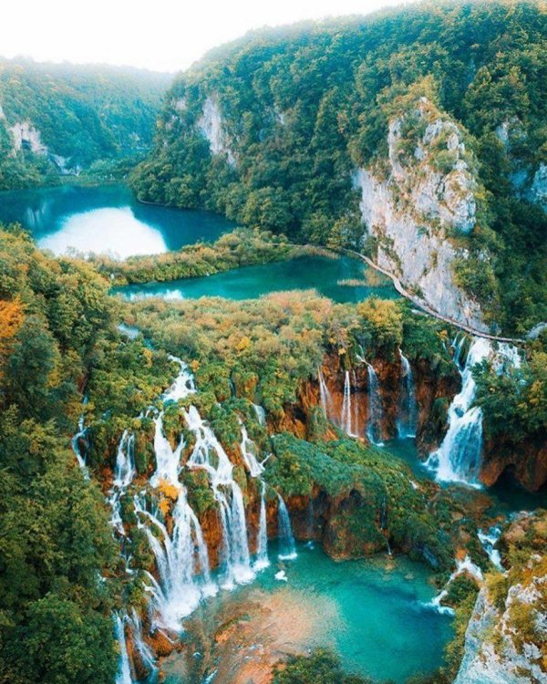 Le Parc National des lacs de Plitvice (Croatie)