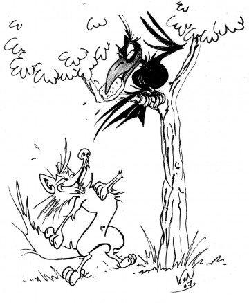 le corbeau et le renard en argot