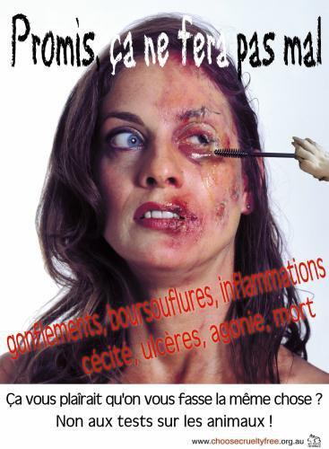 STOP AUX TESTES SUR LES ANIMAUX!