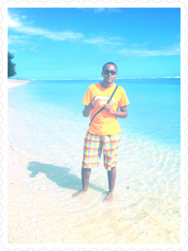 Poser sur la plage!