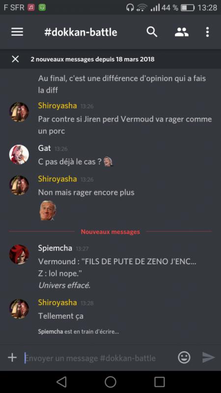 Les discussions sur Discord