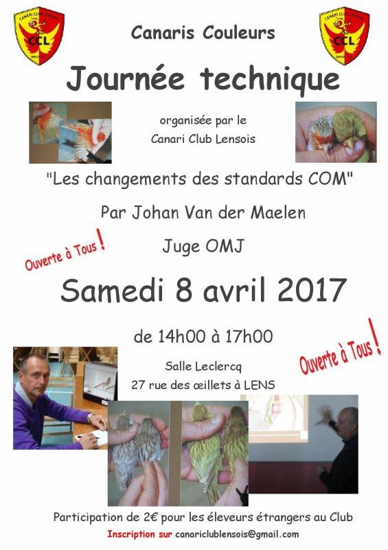Thème de notre journée technique du 8 avril 2017 animée par Johan Van der Maelen