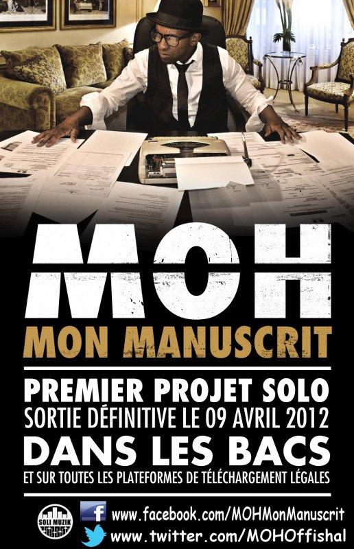 """MOH """"MON MANUSCRIT"""" DANS LES BACS LE 9 AVRIL 2012"""