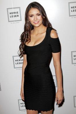 Le 11 février. Nina lors du défilé Herve Leger à la Fashion Week de New York.