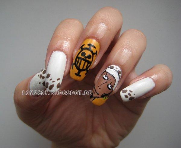 one piece nail art !! beautifaul !!!!!!
