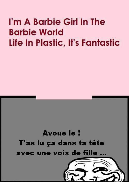 I'm a barbie girl...