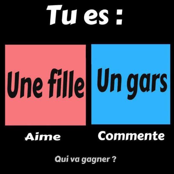 Fille vs Gars