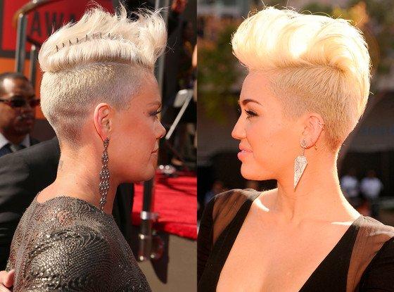 Pink a la même coupe de cheveux que Miley Cyrus !!!