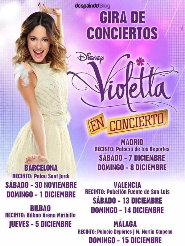 Article spécial Violetta En Vivo , Journée du 1 Décembre ♥ Barcelone .