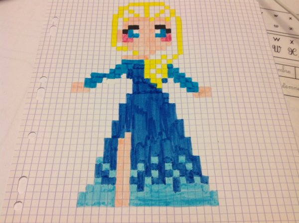 Elsa en pixel