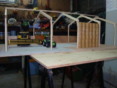 Montage rapide de fin d'année du hangar
