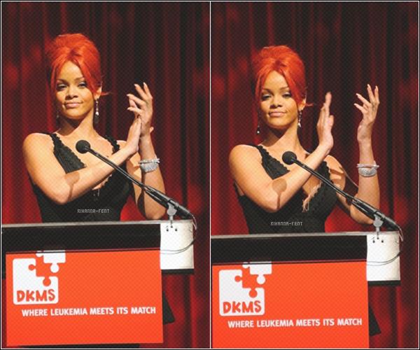 . 28/04/11 ~ Rihanna était magnifique sur le tapis rouge au 5ème Gala du « DKMS » à New York.    .