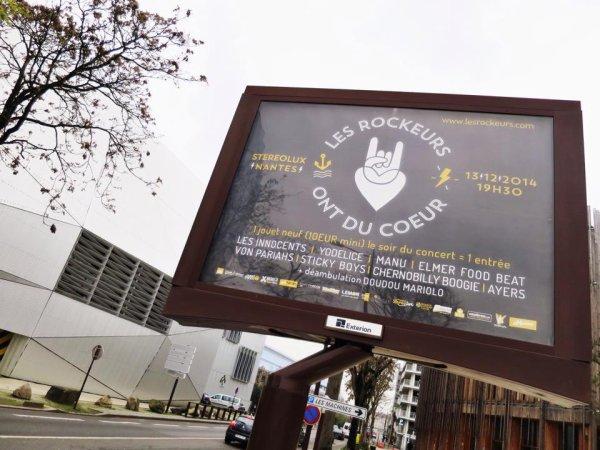les rockeurs  ont du coeur Nantes 13/12/2014