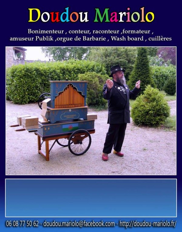 orgue de barbarie avec doudou mariolo