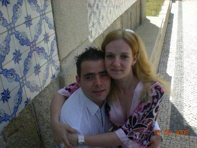2 jours après notre mariage, au bapthème de la petite cousine de luis