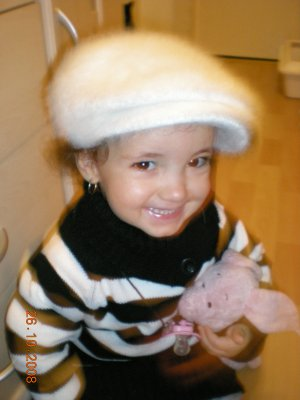 Ma tite puce, qu'elle est grande maintenant ,elle a dja 2 ans et demi, ke ça passe vite!!!