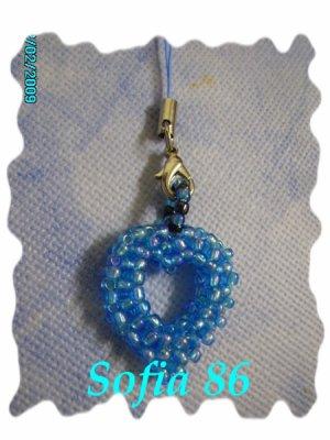 Un zoli bijoux pour Natel, coeur bleu