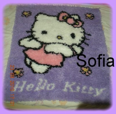 Tapis Hello kitty fini