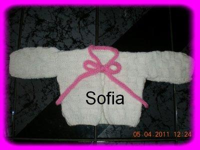 Ma 1ère jaquette en tricot