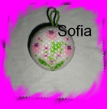 Une boule avec des fleurs