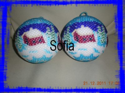 2 boules de 10cm pour des commandes
