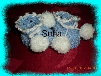 3 paires de chaussons pour nouveau né