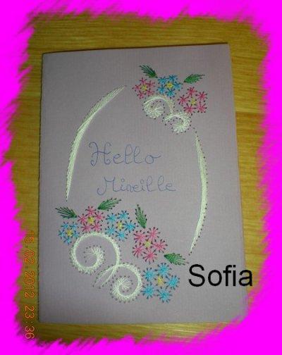 Carte pour Mireille