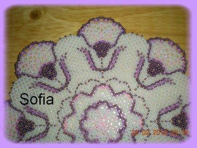 Napperon aux tons violets