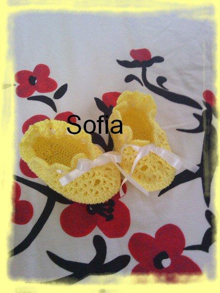 Petits chaussons jaune