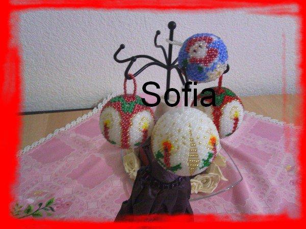 4 boules des Noël