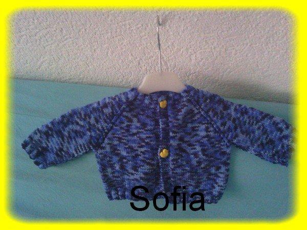 Jaquette bleue pour 3-6 mois