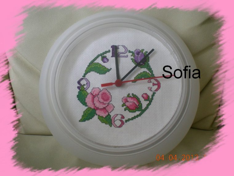 Horloge florale...