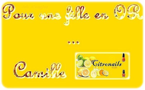Camille, du blog Citronails...